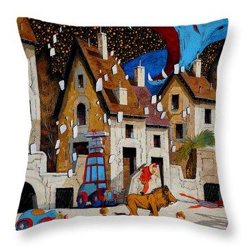 Il Drago Throw Pillow by Guido Borelli
