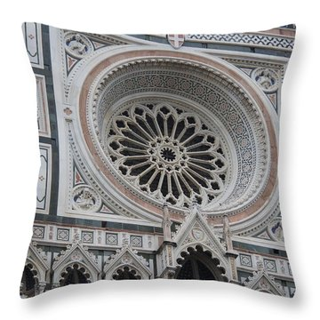 Notre Dame Throw Pillow by Debi Demetrion