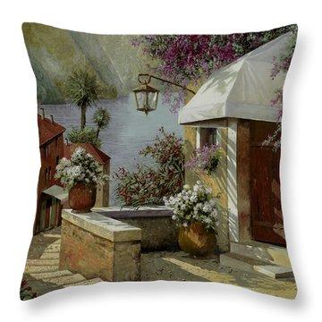Il Lampione Oltre La Tenda Throw Pillow by Guido Borelli