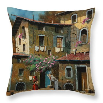Il Notaio E Il Marinaio Throw Pillow by Guido Borelli