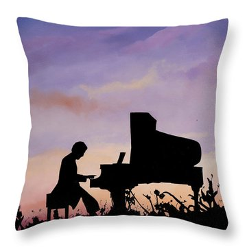 Il Pianista Throw Pillow