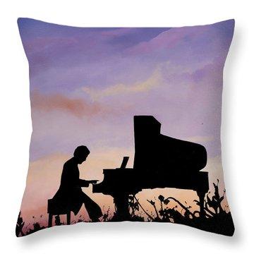 Pianos Throw Pillows