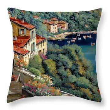 Il Promontorio Throw Pillow by Guido Borelli