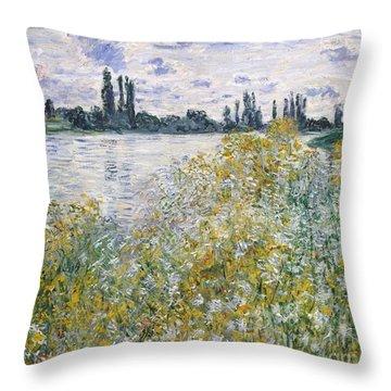 Ile Aux Fleurs Near Vetheuil Throw Pillow