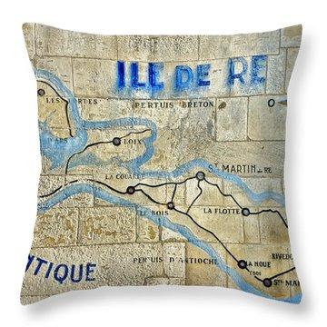 Ile De Re Throw Pillow