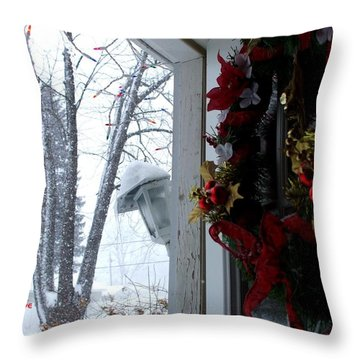 Throw Pillow featuring the photograph I'll Be Home For Christmas by Shana Rowe Jackson