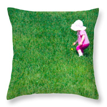 I'll Pick This Pretty Flower For You Throw Pillow