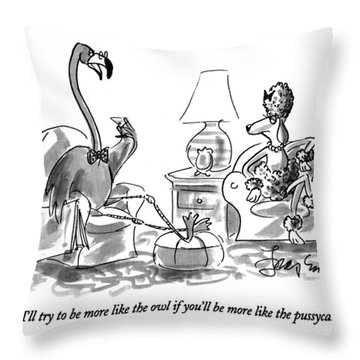I'll Try To Be More Like The Owl If You'll Throw Pillow