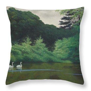 Ille Du Lac Saint James Throw Pillow by Felix Edouard Vallotton