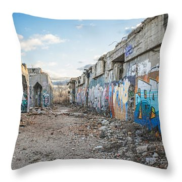 Illegal Art Museum Throw Pillow
