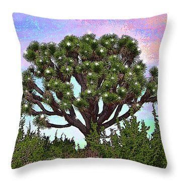 Throw Pillow featuring the digital art Illuminate Joshua by Suzette Kallen