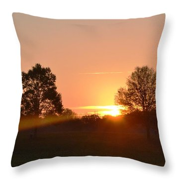 Throw Pillow featuring the photograph Illuminated by Carlee Ojeda