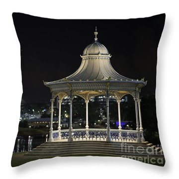 Illuminated Elegance Throw Pillow