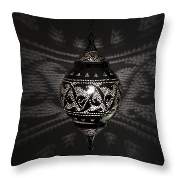 Illuminated Hanging Light Fixture Throw Pillow by Keith Levit