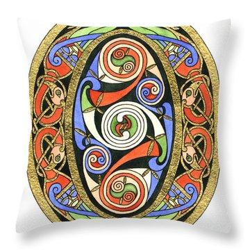 Illuminated O Throw Pillow by Cari Buziak