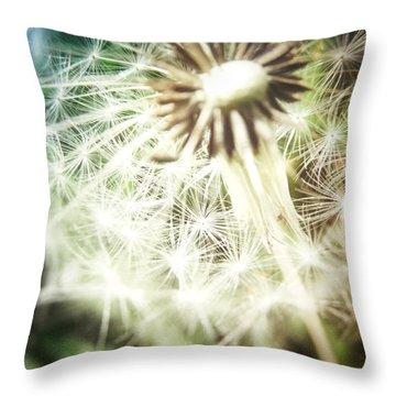 Illuminated Wishes Throw Pillow by Marianna Mills