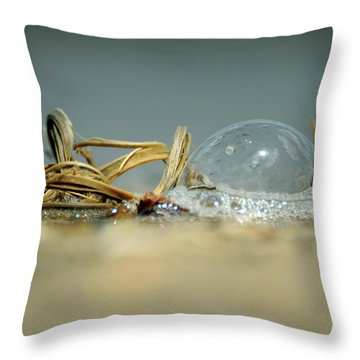 Illusion And Reality Throw Pillow by Rebecca Sherman