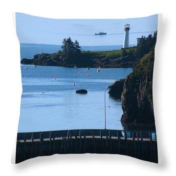 Illusion At Beaver Harbour Light Throw Pillow