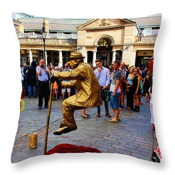 Illusion Covent Garden Throw Pillow by Nicky Jameson