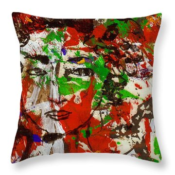 Illusions Throw Pillow by Natalie Holland