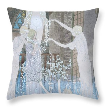 Illustation From Le Reve Throw Pillow