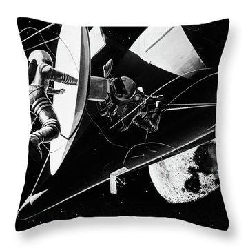 Illustration 1960s Weightless Throw Pillow