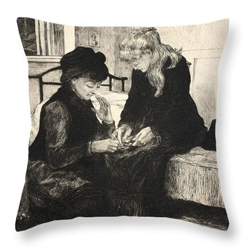Illustration From La Rue A Londres Throw Pillow