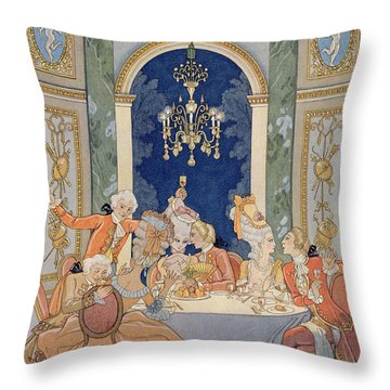Illustration From 'les Liaisons Dangereuses'  Throw Pillow by Georges Barbier
