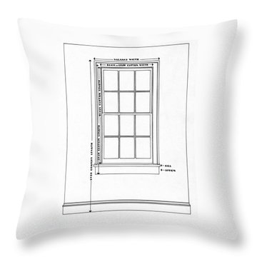 Illustration Of A Window Throw Pillow