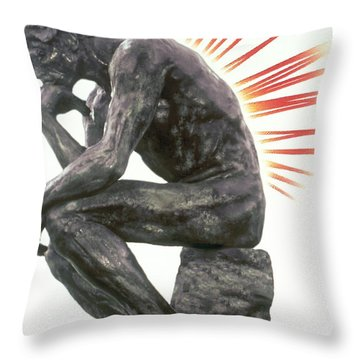 Illustration Of Back Pain Throw Pillow by Dennis Potokar