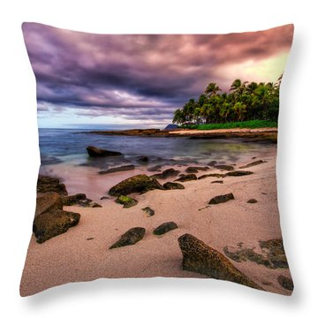Iluminated Beach Throw Pillow