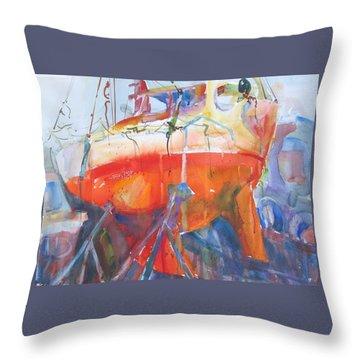 Ilwaco Orange Throw Pillow