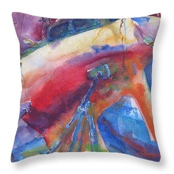 Ilwaco Parti-color Throw Pillow