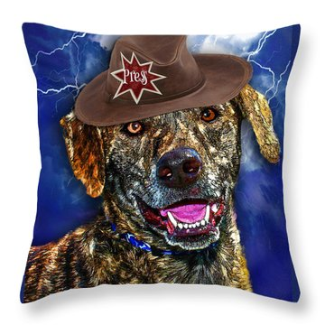 I'm A Canine Community Reporter Throw Pillow