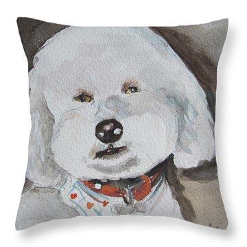 I'm A Good Boy Throw Pillow by Melinda Saminski