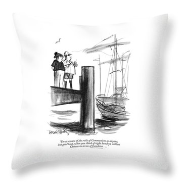 I'm As Aware Of The Evils Of Communism As Anyone Throw Pillow