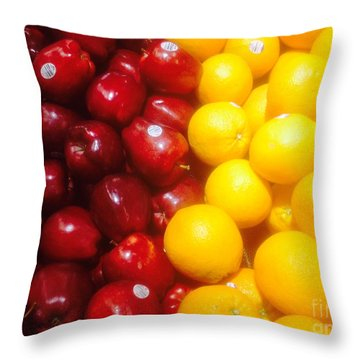 I'm Comparing Apples And Oranges Throw Pillow