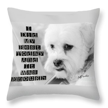 I'm Enough Throw Pillow