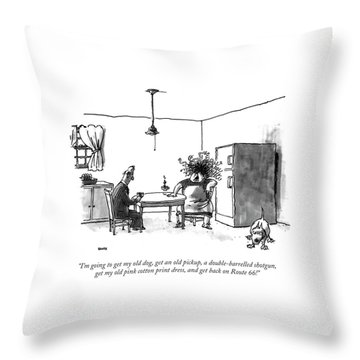 I'm Going To Get My Old Dog Throw Pillow