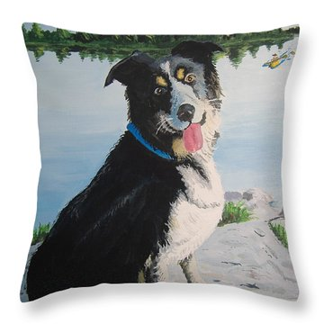 I'm Guarding The Camp Throw Pillow by Norm Starks
