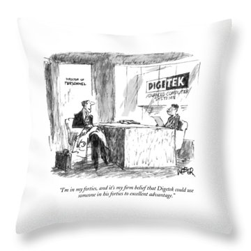 I'm In My Forties Throw Pillow