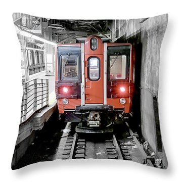 I'm Leaving On A Train Throw Pillow