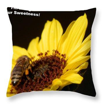 Honey Bee Sweetness Throw Pillow