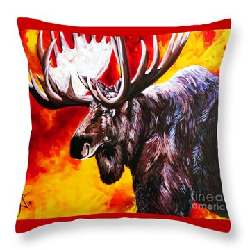 I'm No Bambi Throw Pillow