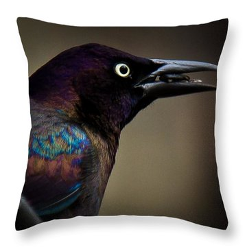 Throw Pillow featuring the photograph I'm Not Done Eating by Robert L Jackson