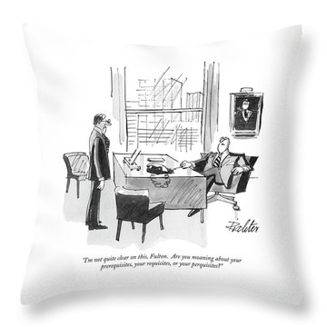 Office Manager Throw Pillows
