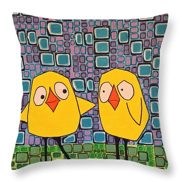 I'm Not Touching You Throw Pillow
