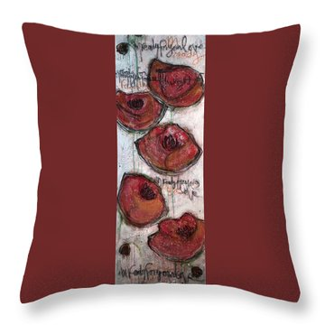 Im Ready For Your Love Poppies Throw Pillow