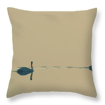I'm Sailing Right Behind Throw Pillow by Laurie Search