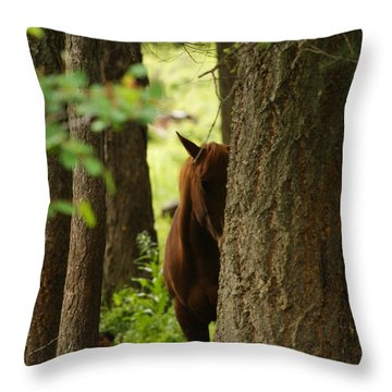 I'm Shy Throw Pillow
